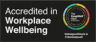 Accredited in Workplace Wellbeing - by the IBEC Keep Well Mark