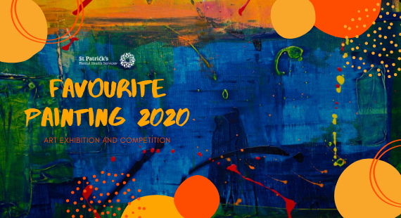 Image showing a paint-covered background to promote the Favourite Painting 2020 art exhibition and competition